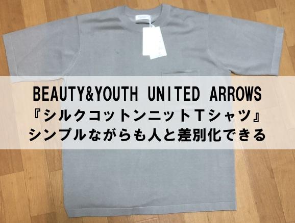 【BEAUTY&YOUTH】シルクコットンニットTシャツ レビュー